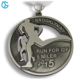 2015 high quality wholesale antique nickel plating custom running medals