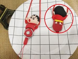 Silicone doll cartoon key chain neck strap customization mobile phone charm