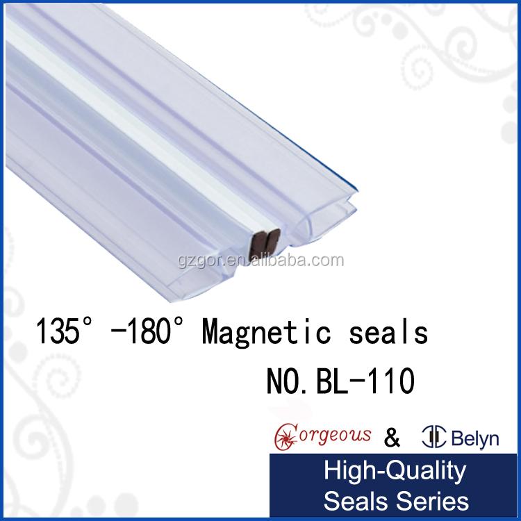 135 degree glass shower door plastic seal stripshower door magnetic strip