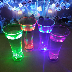 Plastic led flashing cup, lighted wine cup, light up party cup
