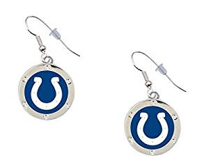 Get Quotations Indianapolis Colts Crystal Earrings Clip On Available