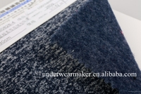 Custom new design high quality digital printing 100% polyester melange velvet knit fabric