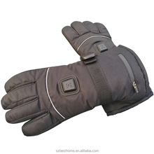 Winter electric Li-ion battery waterproof thermal heated touch screen gloves for men and women