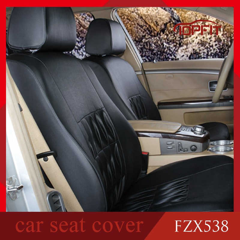Top quality new design pu pvc leather car seat cover for toyota hilux prado noah camry hotsale in middle east countries