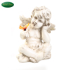 Hand made Resin praying cherub angel with wings figurine cupid for garden decoration