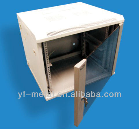 19-inch small YF-DW 4u white wall mounted cabinet for network