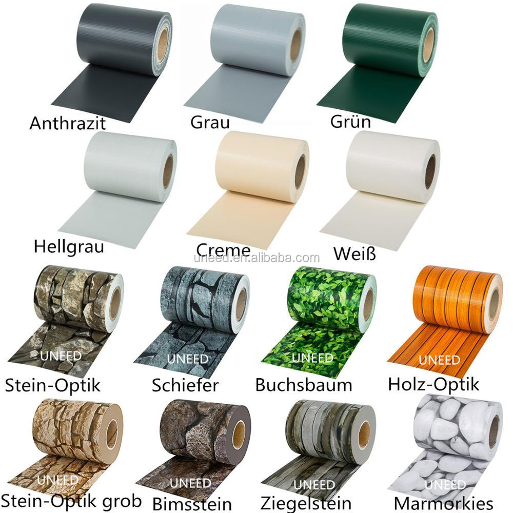 100% Uv Resistance 450g m2 0 75x6m Pvc Balcony Screen Fence Cover