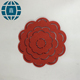 China Good classical wooden tea /coffee cup mat car candy color three-dimensional leaves heat insulation