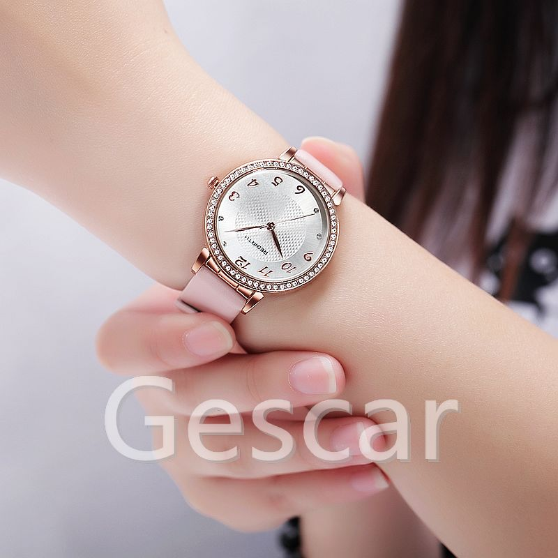 Rebirth RE093 hot sale high quality leather strap wrap quartz casual watch for man women