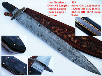 Roman Gladius Custom Hand Made Damascus Steel Hunting Sword Knife ...