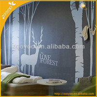 ZooYoo original vinyl lettering large tree love forest wall decals home decoration