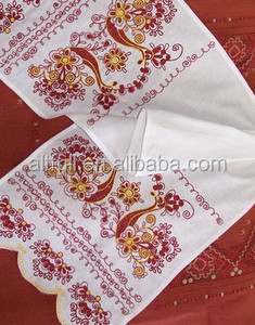 wholesale alibaba 100% cotton high quality terry embroidery lace luxury wedding promotional gift towel