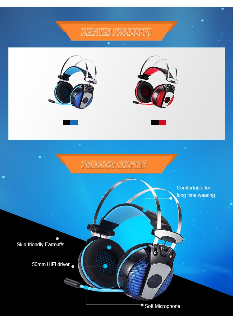 Beexcellent Gaming Headset With Microphone For Pc Xbox One Ps4 Gs500 - Buy  Beexcellent Gaming Headset,Headset With Microphone,Gaming Headset With