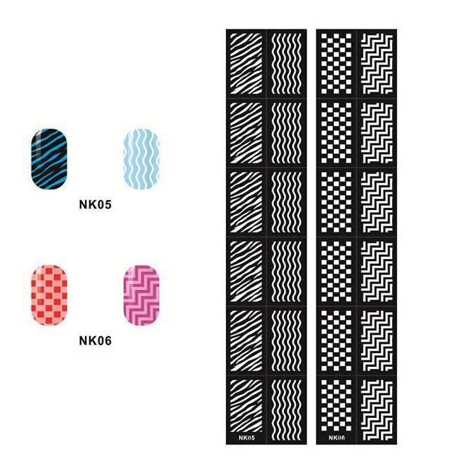 China New Hearts & Diamonds Nail Polish Finger Nail Stencils,Diy ...