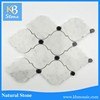 New Glazed carrara mixed black dot Polished Interior Floor and Wall tile Marble