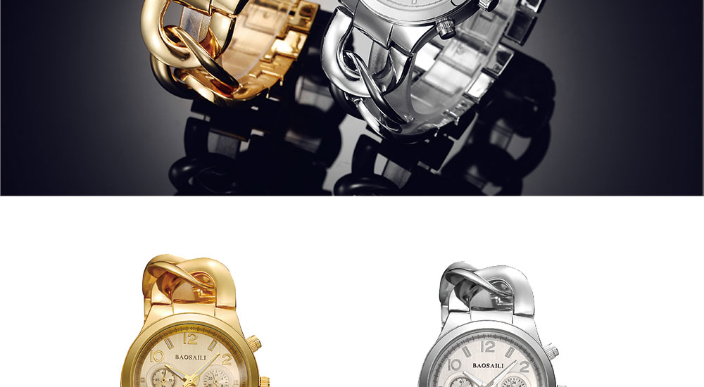 Hot Selling Chain Gold Stainless Steel Watches Women Fashion Quartz Wrist Watch
