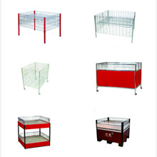 <span class=keywords><strong>Hout</strong></span> en Staal Draagbare Supermarkt Promotie <span class=keywords><strong>Display</strong></span> Tafel Stand
