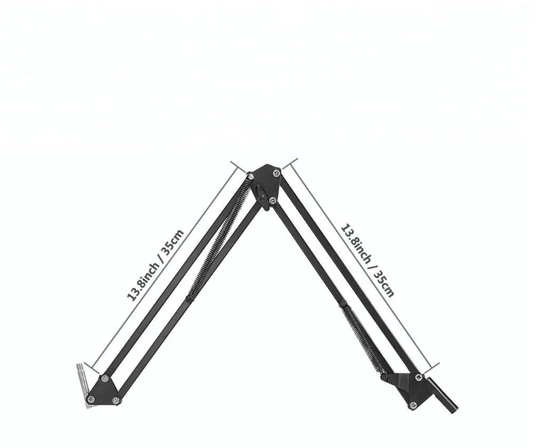 Professional  High Quality 35 Adjustable Suspension  arm Stand For Microphone Bm800 Audio Studio  Desktop Mic
