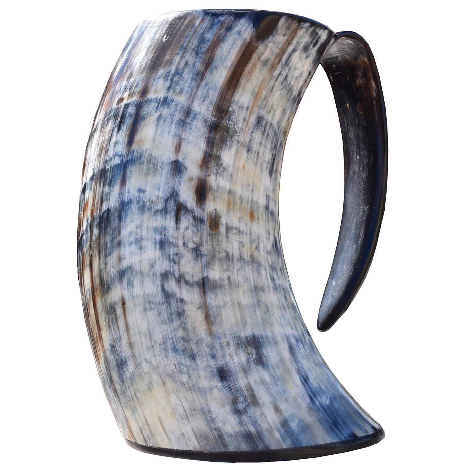 HornBrew Viking Cup Drinking Horn Tankard - Made with 100% Real Ox Horn (28oz)