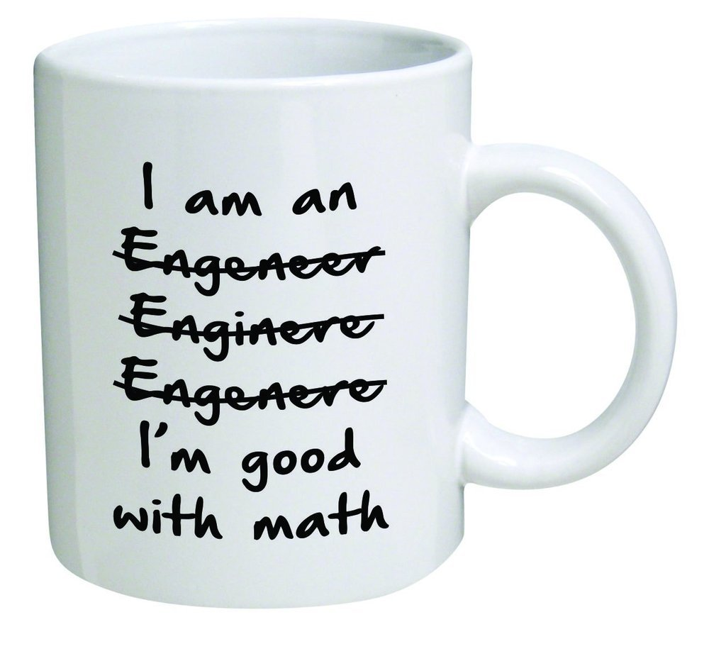 Popular Design Custom Office Cup - Funny Wrong I'm An Engineer Good with Math - 11 Ounce Ceramic White Coffee/Tea Cup