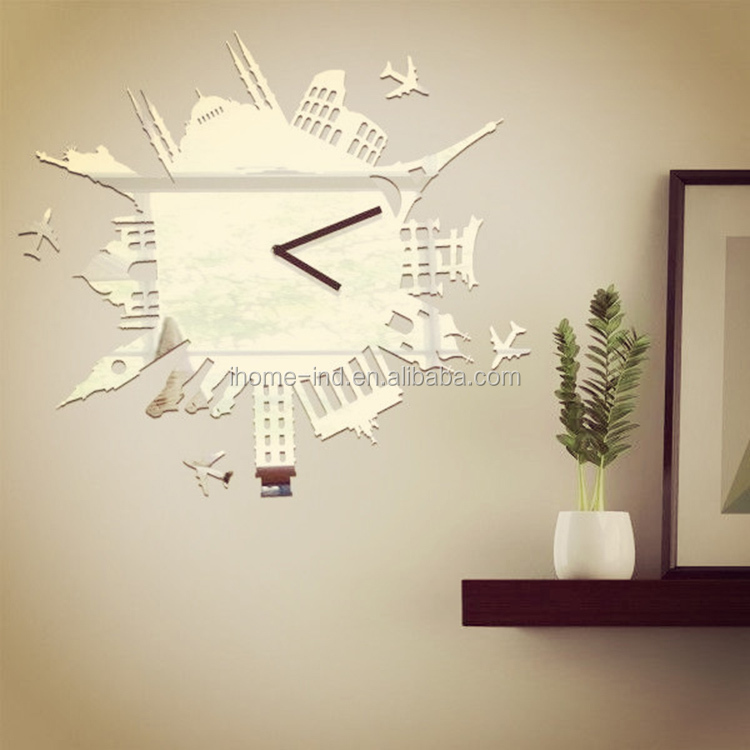 Mirror Diy Home Watches Power Wall Clock China Small Manufacturing ...