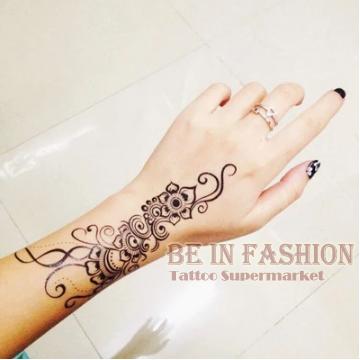 1 st ck indische arabische trendy henna schwarz tattoos tempor re wasserdicht. Black Bedroom Furniture Sets. Home Design Ideas