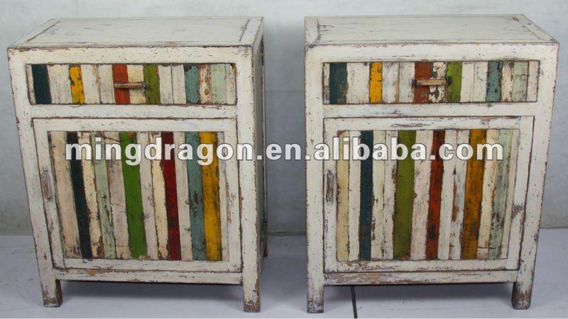cinese colorato antico comodino-Armadietto di legno-Id prodotto ...