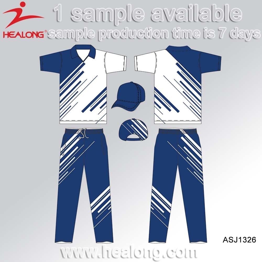 Shirt design jersey - Healong Custom Polo Team Set Cricket Jersey Uniform Shirts Design