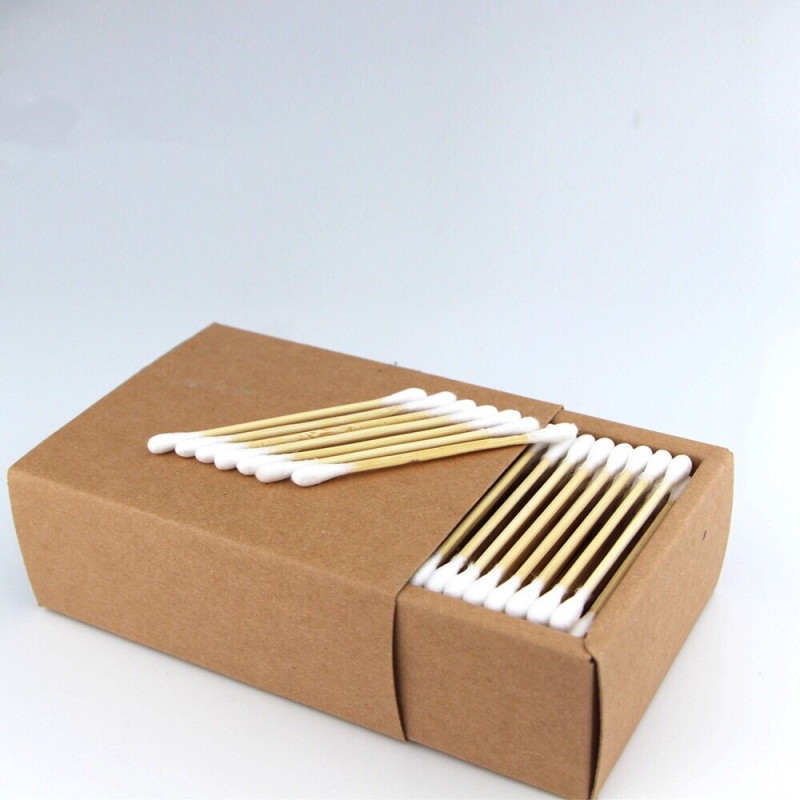 Cotton Swab Stick Nature Household disinfect Makeup Bud Absorbent Q-tip Double Head Cotton Swabs For Cleaning