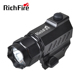 pistol flashlight,wall mounted rechargeable torch light,laser mount