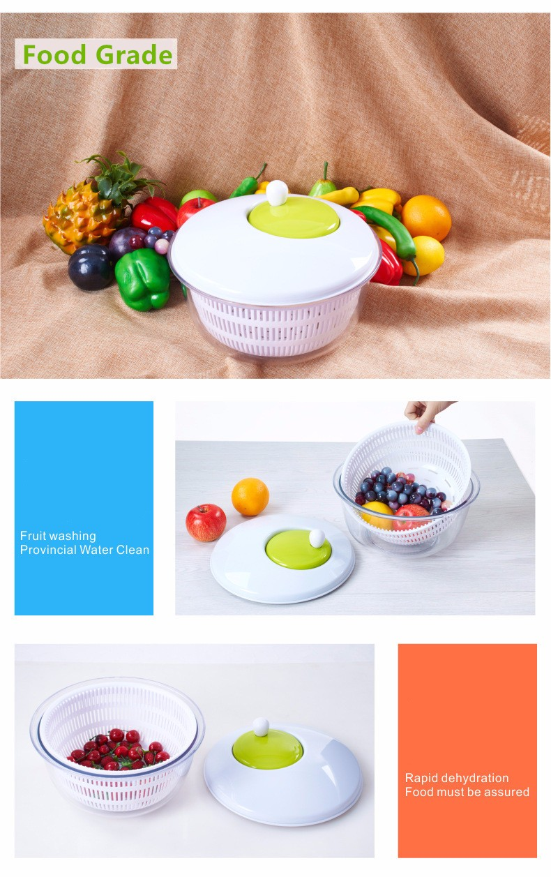 Kitchen Appliance Tools New Design OEM Salad Spinner withFDA/LFGB certificate and factory price
