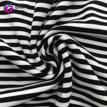2017 factory direct price hot selling black white stripe fabric, knitted fabric polyester