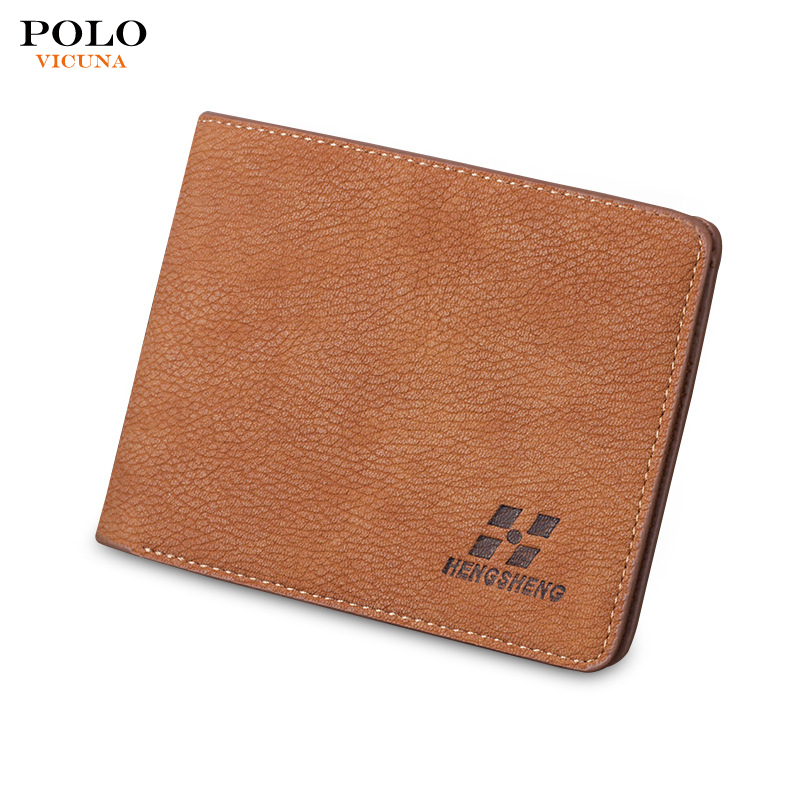 High Cost Performance Young Men's Slim Fashion Leather Minimalist Mini <strong>Wallet</strong>