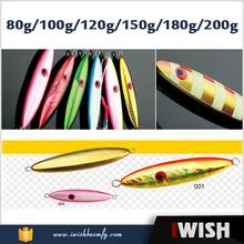 80g 100g 120g 150g 180g 200g Lead Fish Multi color fishing Bait Casting Lure Fishing Tackle Exported to Japan
