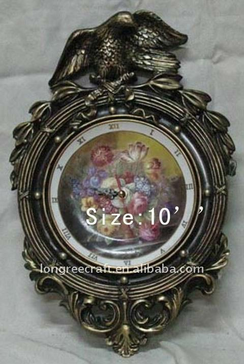Antique Flower Oil Painting Art Clock