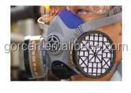 High Filterability Chemical Respirator Mask with Replaceable Cartridges, Chemical Protective Mask