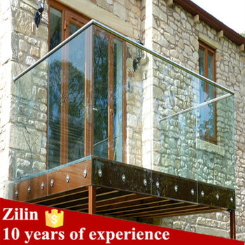 Modern House Design Stainless Steel Glass Railing For