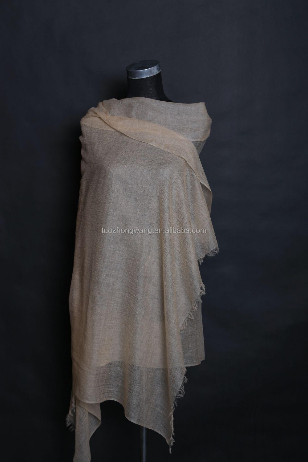 beautiful and elegant camel cashmere scarf