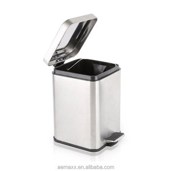 Step Stainless Steel Kitchen Grey Square toilet dust bin