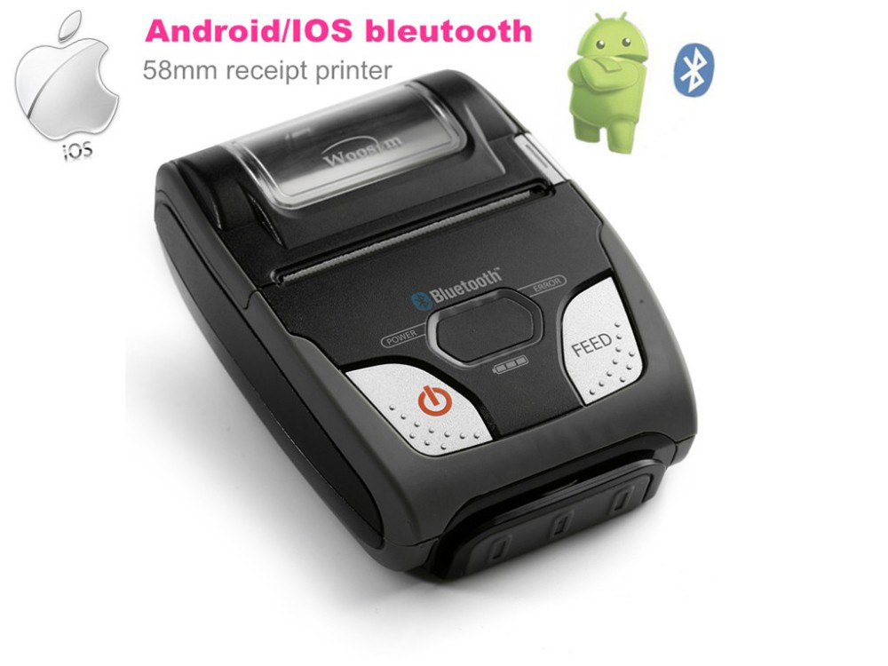 WOOSIM WSP-R240 mini thermal 58mm receipt mobile printer for android/ios smart phone