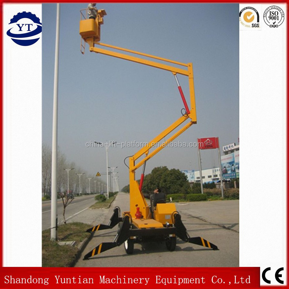 8m self-propelled electric powered hydraulic articulated crank arm one man lift