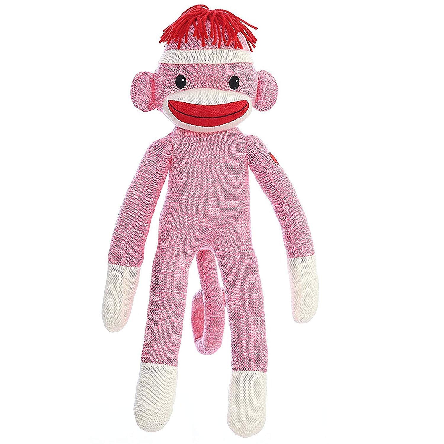 Get Quotations Giftsglorenow Original Plushed Stuffed Sock Monkey 20 Inches Tall Soft Like Wool Knitted Realistic Animal