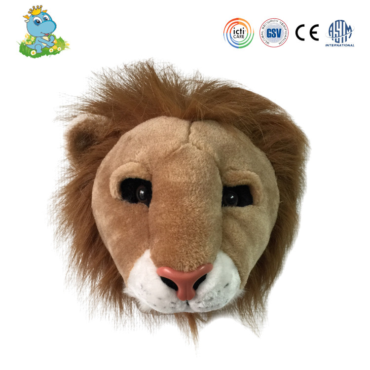 Most popular pop professional lion shaped braided cotton rope plush animal head toy