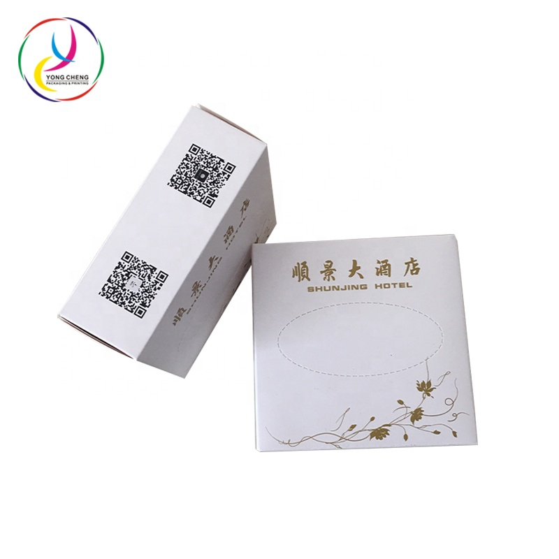 Industry printed cardboard facial Tissue folded paper box