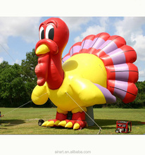 Christmas outdoors is decorated with high quality giant inflatable turkey