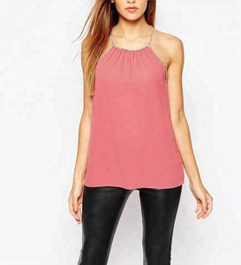12207198779 Diamonds Sleeveless Tank Top Lady Shirts Spring Summer Sexy Tops Women  Casual Blouse New Designs