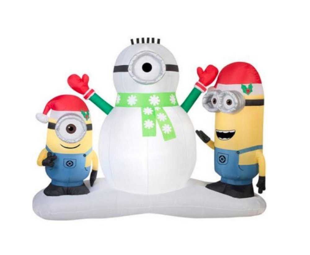 Buy Christmas Inflatable Minion Stuart Amp Kevin Building