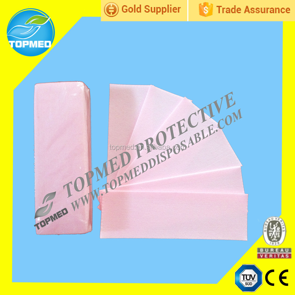 hot sale disposable viscose polyester wax paper roll wax strips