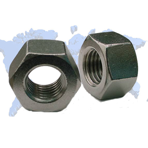 Wholesales factory price 6.8 grade Carbon steel 50mm hex nut with YZP
