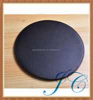 High quality round leather mouse pad with wrist rest for gifts